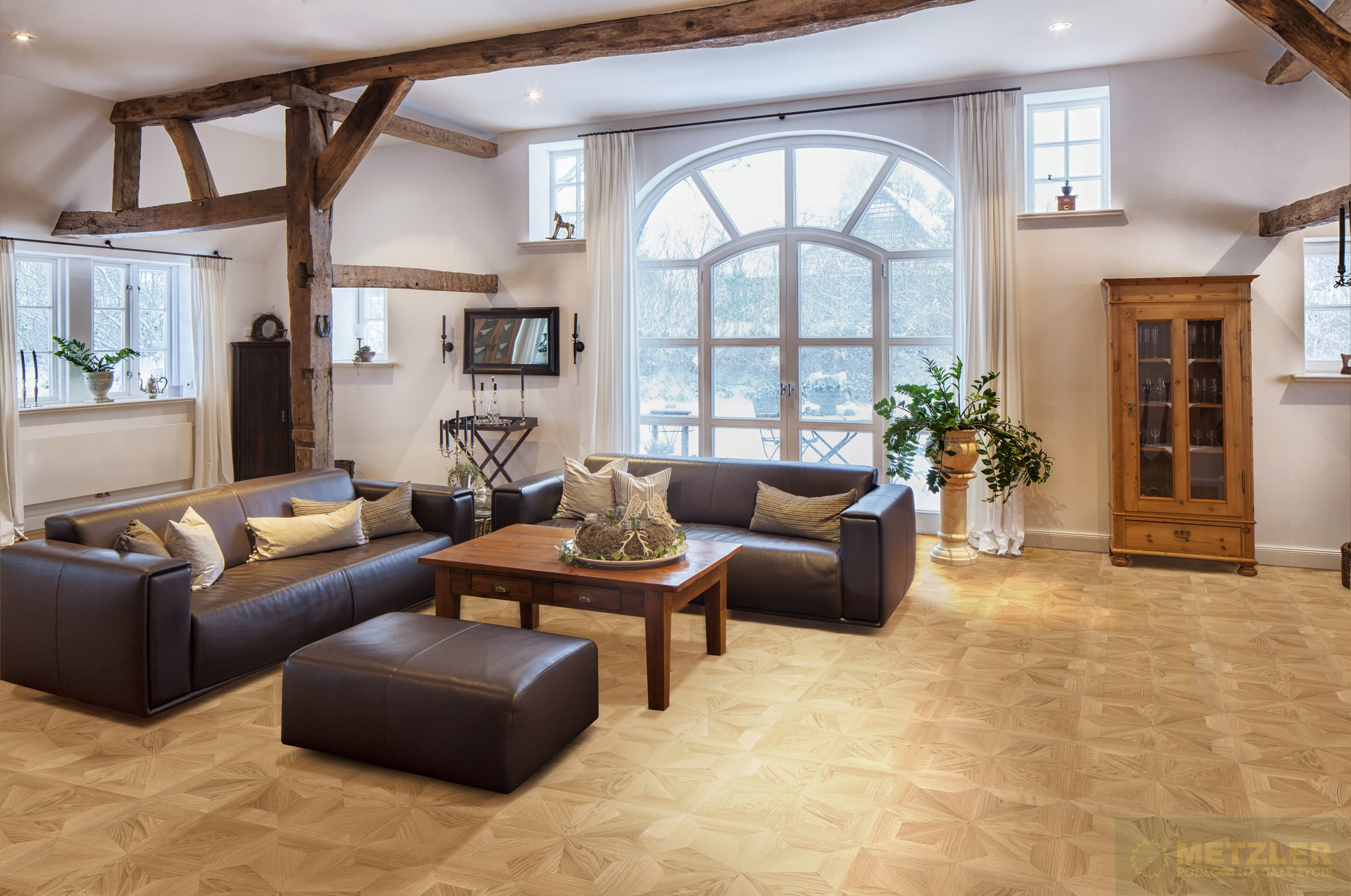Windsor mozaika pa acowa d b natur parkiet pa acowy for Wohnzimmer klassisch einrichten